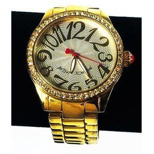 Betsey Johnson Gold Tone Bracelet Watch